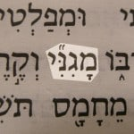 One of the Hebrew names for God, Maginni, translated My Shield and pictured in the Hebrew text of 2 Samuel 22:3