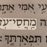 A Hebrew name of God, Makhasi-oz, translated My strong refuge and pictured in the Hebrew text of Psalm 71:7