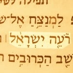 A picture of the Hebrew text of Psalm 80:1, which refers to God as the Shepherd of Israel (Ro'eh Yisra'el).