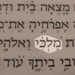 My King (Malkhi) photographed in the Hebrew text of Psalm 84:3.