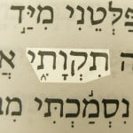 My hope (Tiqwati) pictured in the Hebrew text of Psalm 71:5.