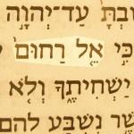 Compassionate God (El rakhum) pictured in the Hebrew text of Deuteronomy 4:31.