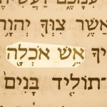 Consuming Fire (Esh okhlah) pictured in the Hebrew text of Deuteronomy 4:24.