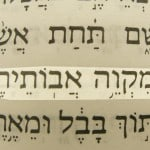 Hope of their fathers (Miqweh avotehem) pictured in the Hebrew text of Jeremiah 50:7.